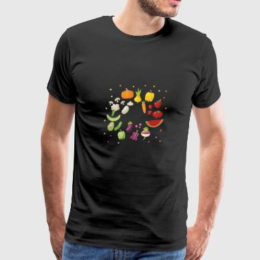 fruit and vegetables design - Men's Premium T-Shirt