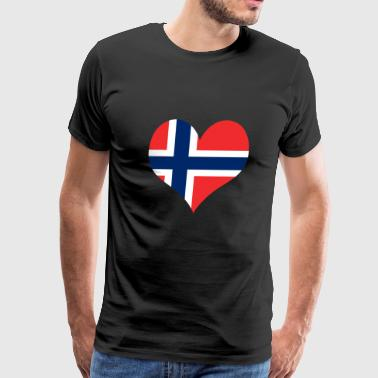 Heart Norway Love country europe gift idea - Men's Premium T-Shirt