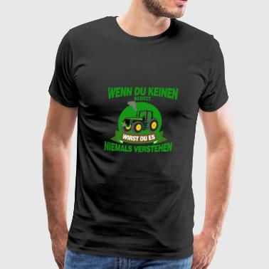 tractor farming - Men's Premium T-Shirt