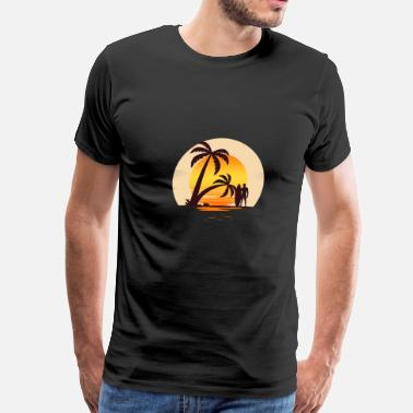 Street Surfer Sunset Surfer - Men's Premium T-Shirt