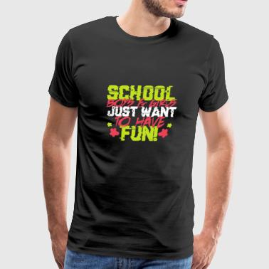 Schoolchild enrollment elementary play school gift - Men's Premium T-Shirt