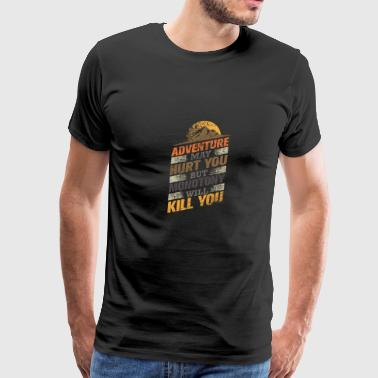 Avide Love Seek Adventure - Camping - Men's Premium T-Shirt