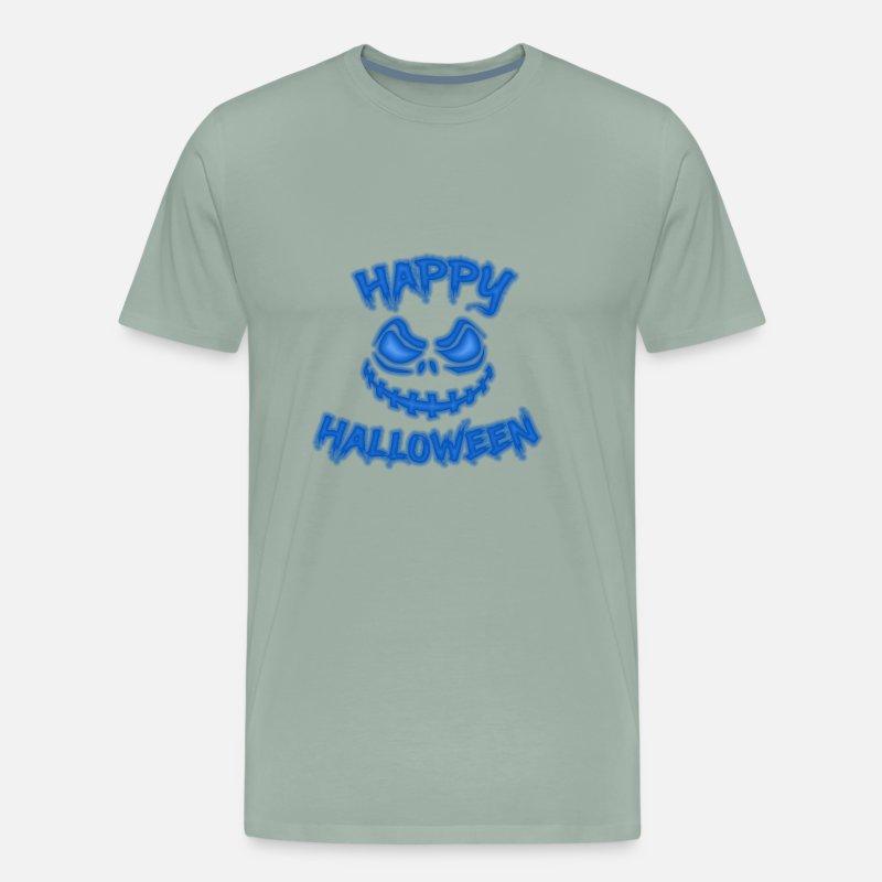 28955e645d8749 Halloween pumpkin face evil blue by sytacdesign