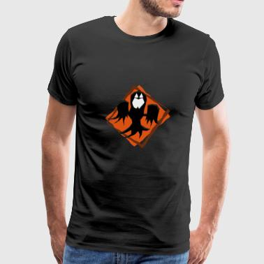 Polygon scary halloween ghost - Men's Premium T-Shirt