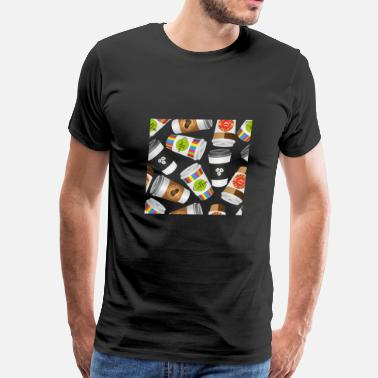 Luxury Illustration coffee to go - Men's Premium T-Shirt