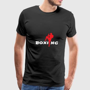 Fighter And The Kid Boxing Man Knee Kick Martial Arts - Gift Idea - Men's Premium T-Shirt