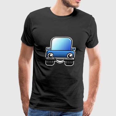 Blue Car Comic Style - Men's Premium T-Shirt