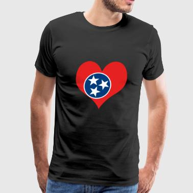 Heart Tennessee Love country America USA gift idea - Men's Premium T-Shirt