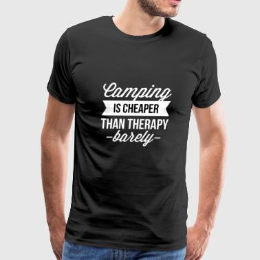 Camping is cheaper than therapy - Men's Premium T-Shirt