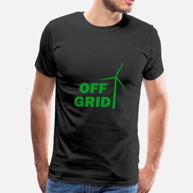 Off Grid Off Grid in Green - Men's Premium T-Shirt
