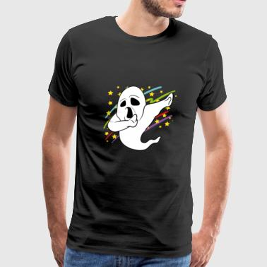 Dabbing Dab Ghost Halloween Disco Party Music - Men's Premium T-Shirt
