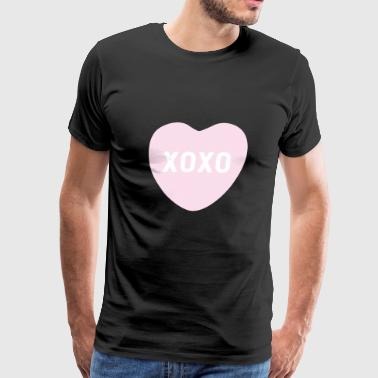 Candy Heart XOXO Pink Candy Heart - Men's Premium T-Shirt
