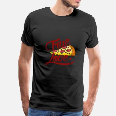 Retro Hawaiian Pizza Love - Men's Premium T-Shirt