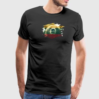 Lithuania Flag & Bear - Lithuanian Pride Design - Men's Premium T-Shirt