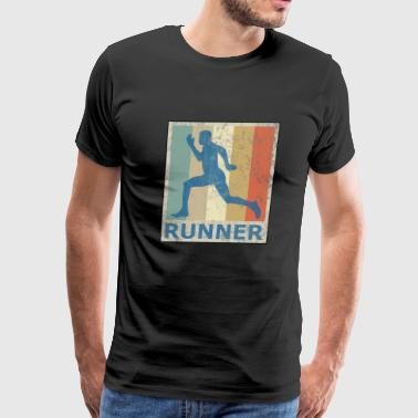 Retro Vintage Style Jogging Running Fitness Cardio - Men's Premium T-Shirt
