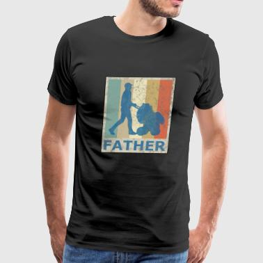 Retro Vintage Style Father Daddy Baby Carriage - Men's Premium T-Shirt