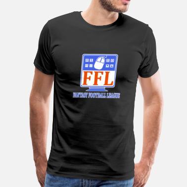 "1a43d3ba600f ""fantasy Football Leagues"" Fantasy Football League - Men's Premium T-Shirt"
