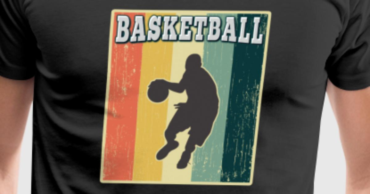 Vintage retro old school basketball t shirt spreadshirt for Old school basketball t shirts