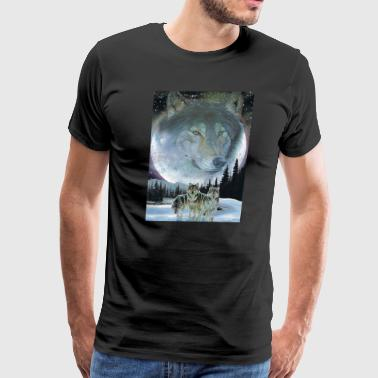 Wolves moon - Men's Premium T-Shirt