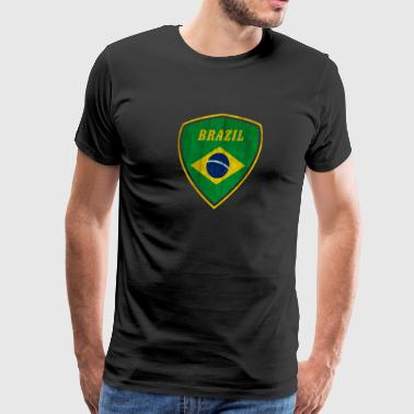 Old School Detroit Brazil Emblem - Men's Premium T-Shirt