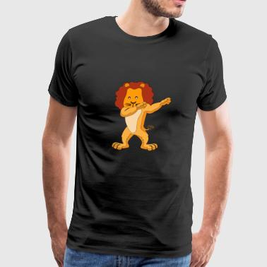 dabbing lion dab lion cute sweet animal - Men's Premium T-Shirt