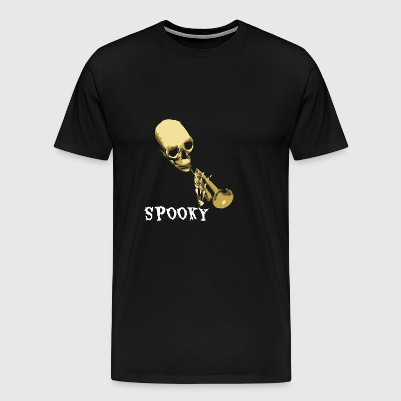 Spooky Scary Skeleton Trumpet Meme - Men's Premium T-Shirt