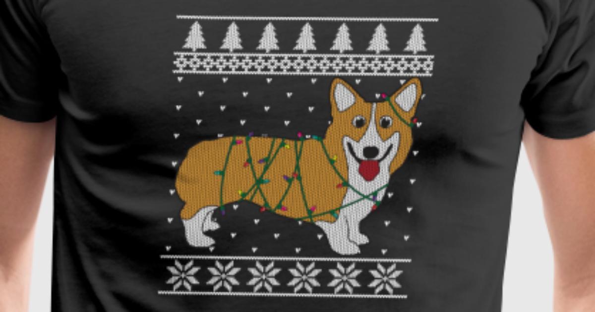 funny dog shirt ugly christmas corgi by matti mv shirtz spreadshirt - Christmas Corgi