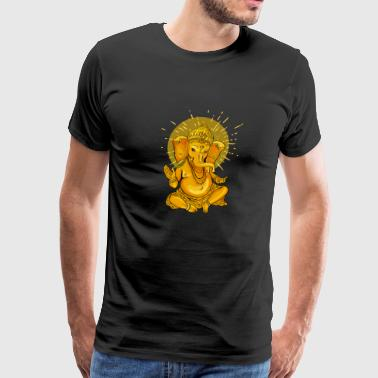 ganesha gold Namaste elephant india God Namaste om - Men's Premium T-Shirt
