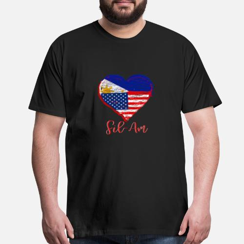 9a26ab2ada5 Filipino American Heart   Flag - Fil-Am Men s Premium T-Shirt ...