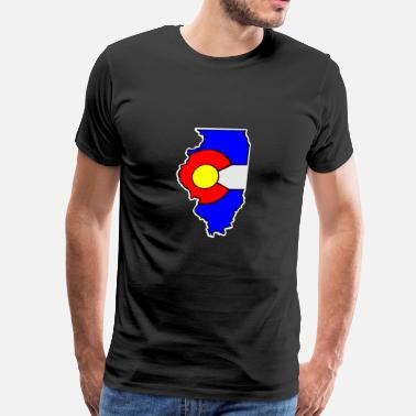 State Of Colorado Colorado Flag Illinois State - Men's Premium T-Shirt