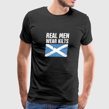 Kilts Scottish Flag | Real Men Wear Kilts - Men's Premium T-Shirt