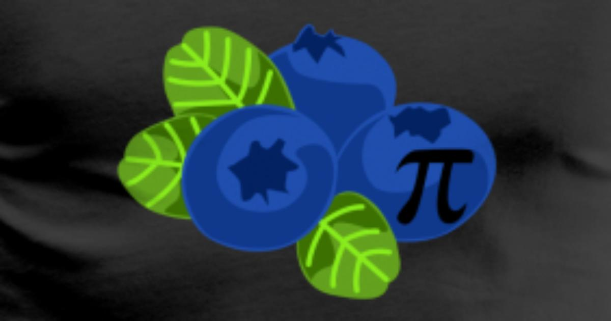 Blueberry Pie Funny Math Symbol Nerd Algebra Geek By