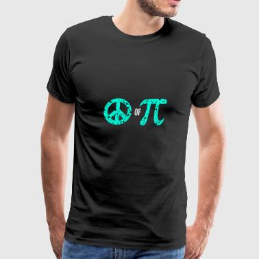 Peace Of Pi Symbol Science Geek Mathematics Pun - Men's Premium T-Shirt