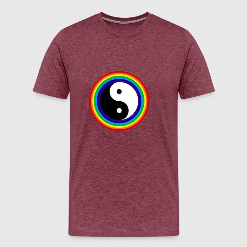 Yin And Yang Rainbow Chinese Tai Chi Symbol By Freshdressedtees