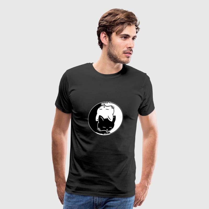 Yin Yang Cats Chinese Tai Chi Symbol Lucky Charm By Freshdressedtees