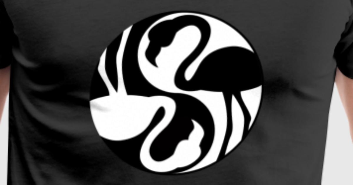 Yin Yang Flamingos Chinese Tai Chi Symbol Lucky By Freshdressedtees