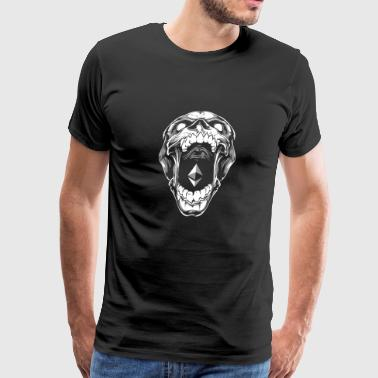 Ethereum Skull Cryptocurrency Blockchain Digital - Men's Premium T-Shirt