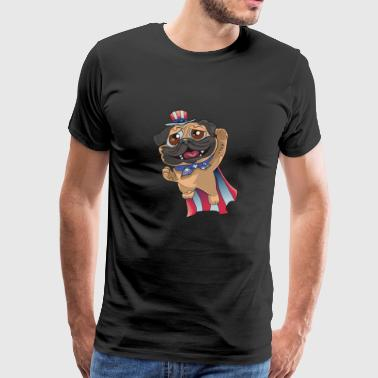 Super Pug 4th Of July - Men's Premium T-Shirt