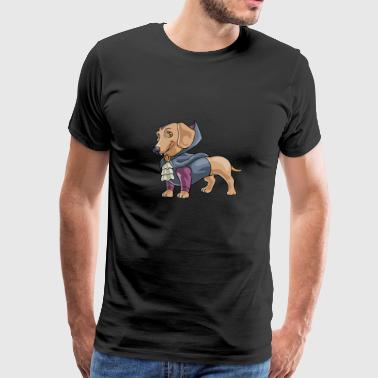Halloween Halloweiner Dog Vampire - Men's Premium T-Shirt
