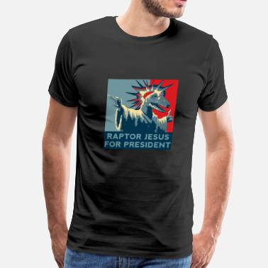 Republican Jesus Raptor Jesus For President - Men's Premium T-Shirt
