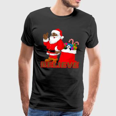 black_santa_tshirts_m - Men's Premium T-Shirt