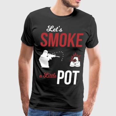 Gun Smoke Let's smoke a little Pot - Men's Premium T-Shirt