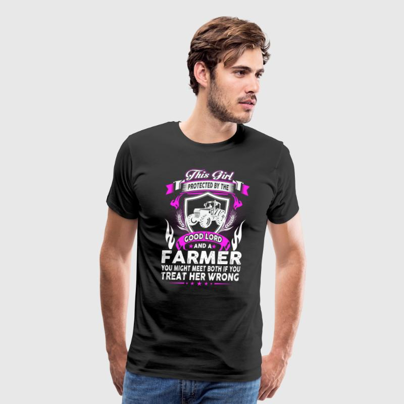 This Girl Is Protected By The Good Lord And Farmer - Men's Premium T-Shirt