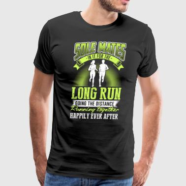 Sole mates in it for the long running together - Men's Premium T-Shirt