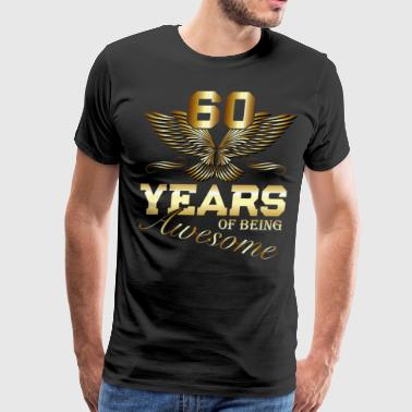60 Years of being Awesome birthday present - Men's Premium T-Shirt