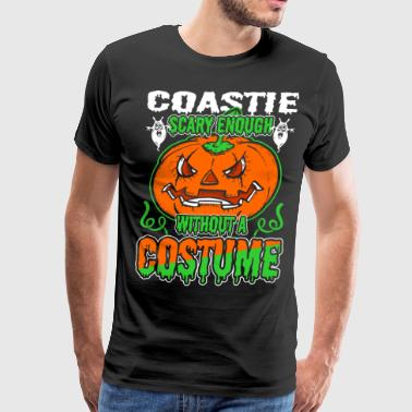 Coastie Scary Enough Without A Costume - Men's Premium T-Shirt