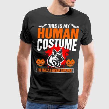 This Is My Human Costume A German Shepherd - Men's Premium T-Shirt