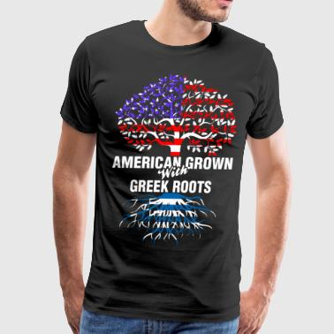 American Grown With Greek Roots - Men's Premium T-Shirt