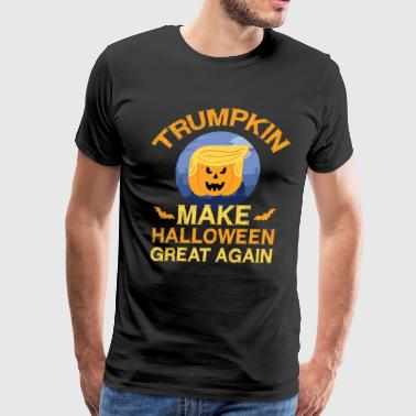 Donald Trumpkin Make Halloween Great Again Funny - Men's Premium T-Shirt