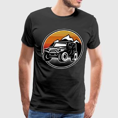 Retro Vintage Off Road 4X4 Driving Driver - Men's Premium T-Shirt